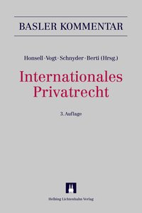 Cover Internationales Privatrecht (IPRG)