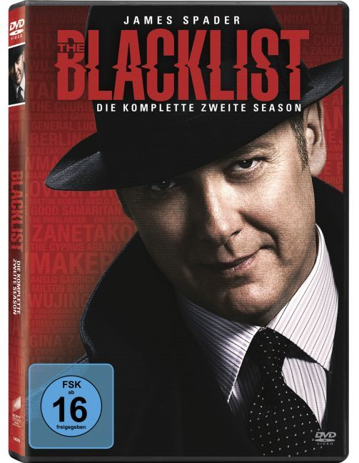 Cover The Blacklist - Die komplette zweite Season. Season.2, 5 DVD
