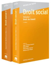 Cover Droit social, Volumes I + II