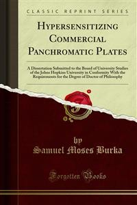 Cover Hypersensitizing Commercial Panchromatic Plates