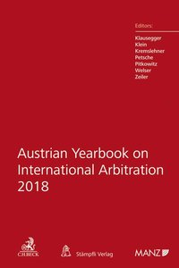 Cover Austrian Yearbook on International Arbitration 2018