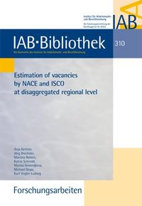 Cover Estimation of vacancies by NACE and ISCO at disaggregated regional level
