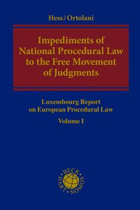 Cover Impediments of National Procedural Law to the Free Movement of Judgments