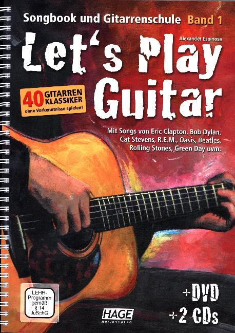 Cover Let's Play Guitar, m. DVD u. 2 Audio-CDs