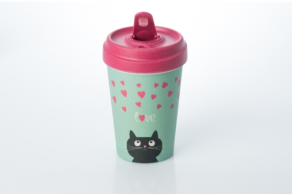 Cover Becher BambooCUP - Kitty Love