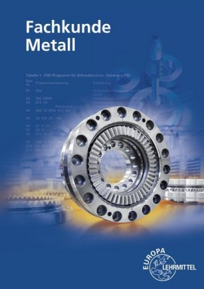 Cover Fachkunde Metall, m. CD-ROM