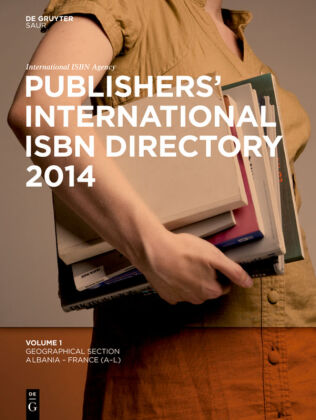 Cover Publishers' International ISBN Directory 2014, 6 Vols.