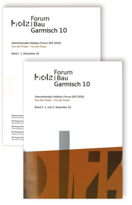 Cover 16. Internationales Holzbau-Forum (IHF 2010), 2 Bde.