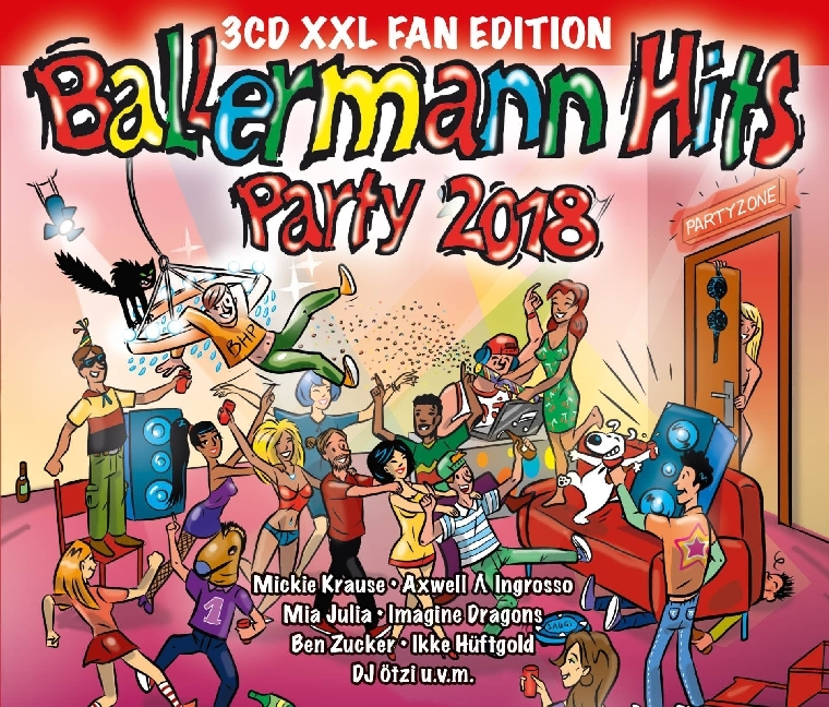 Cover Ballermann Hits Party 2018, 3 Audio-CDs (XXL Fan Edition)