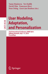 Cover User Modeling, Adaptation and Personalization