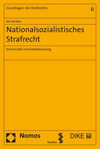 Cover Nationalsozialistisches Strafrecht