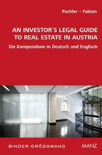 Cover An Investor's Legal Guide to Real Estate in Austria