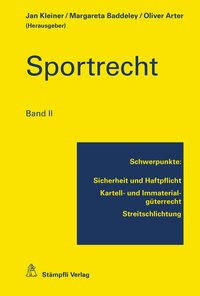 Cover Sportrecht, Band II