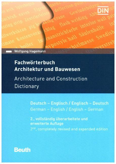 Cover Fachwörterbuch Architektur und Bauwesen. Architecture and Construction Dictionary