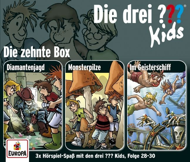 Die drei ???-Kids 3er Box, 3 Audio-CDs