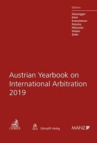 Cover Austrian Yearbook on International Arbitration 2019