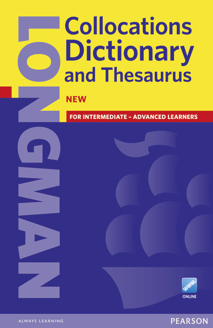 Cover Longman Collocations Dictionary and Thesaurus Paper with online