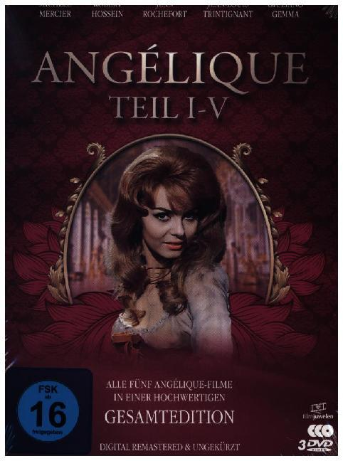 Angélique I-V - Gesamtedition (Alle 5 Filme - digital remastered). 3 DVDs