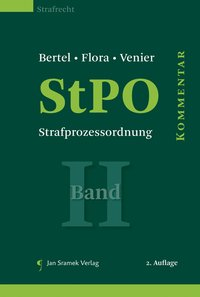 Cover StPO - Strafprozessordnung, Band II