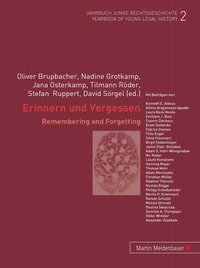 Cover Erinnern und Vergessen /Remembering and Forgetting
