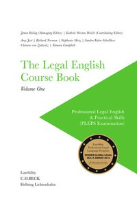 Cover The Legal English Course Book Volume One