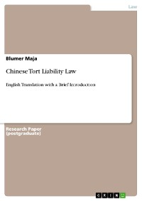 Cover Chinese Tort Liability Law