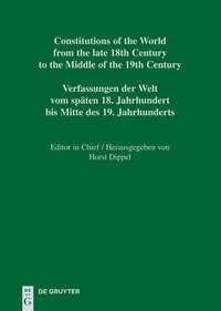 Cover Constitutional Documents of Switzerland from the late 18th Century... / National Constitutions I