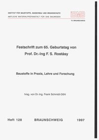 Cover Baustoffe in Praxis, Lehre und Forschung