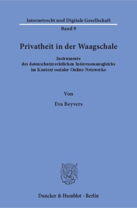 Cover Privatheit in der Waagschale.