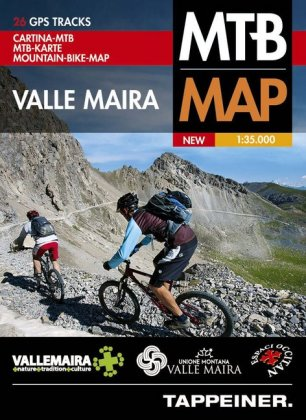 Moutainbike-Karte Valle Maira 1 : 35 000