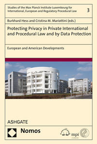 Cover Protecting Privacy in Private International and Procedural Law and by Data Protection