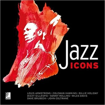 Cover Jazz Icons, Bildband u. 8 Audio-CDs