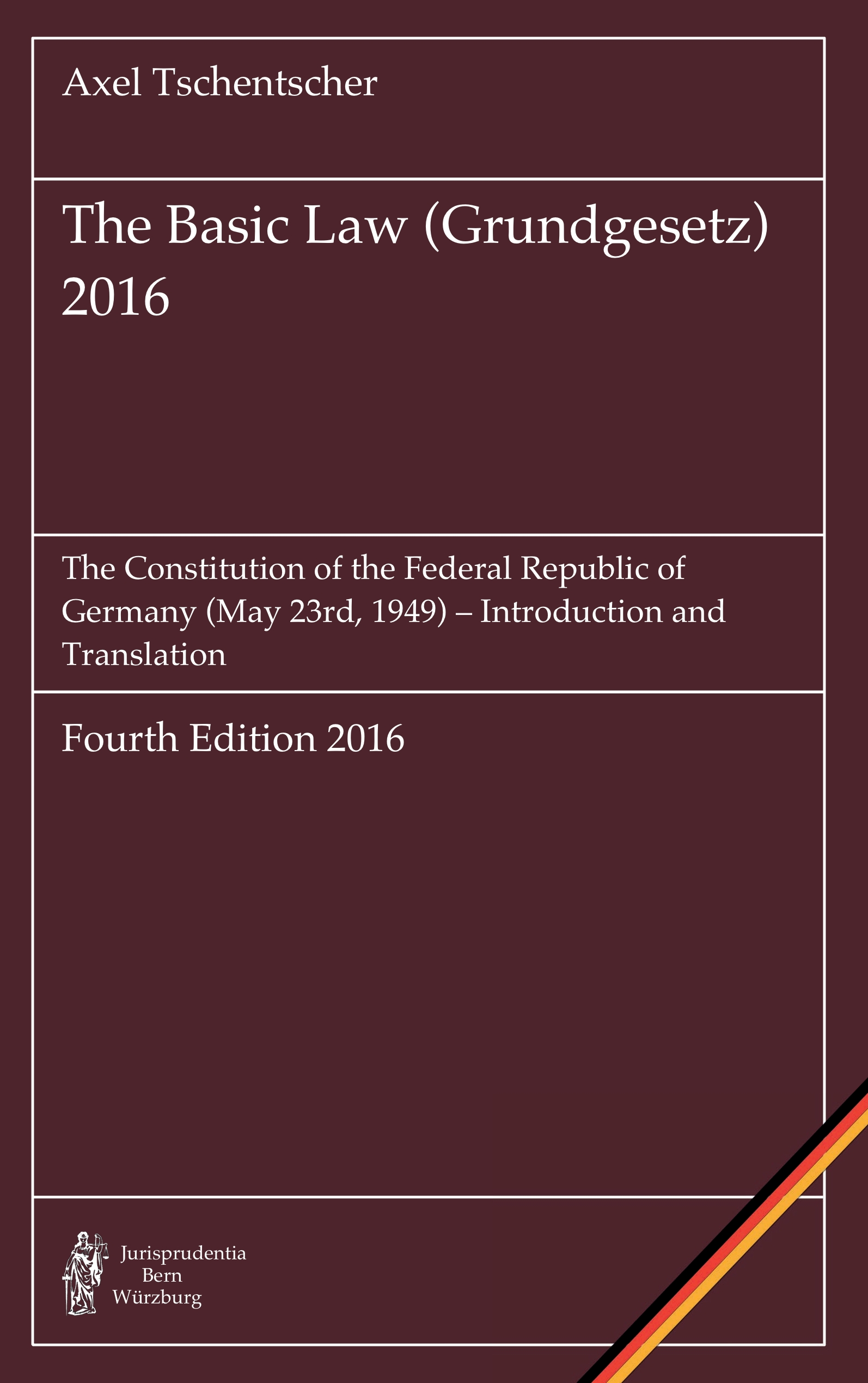 Cover The Basic Law (Grundgesetz) 2016