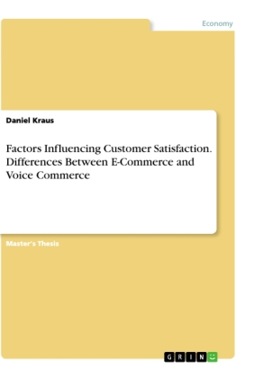 Cover Factors Influencing Customer Satisfaction. Differences Between E-Commerce and Voice Commerce
