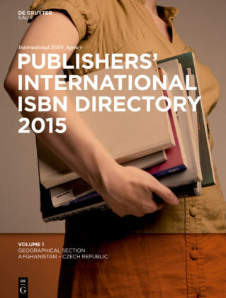 Cover Publishers' International ISBN Directory 2015, 7 Bde.