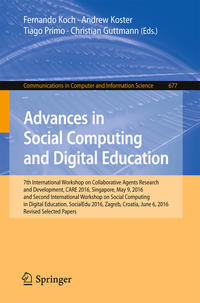 Cover Advances in Social Computing and Digital Education
