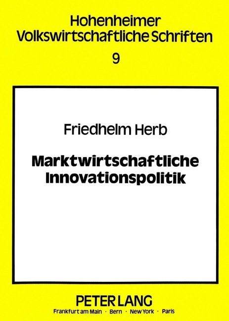 Cover Marktwirtschaftliche Innovationspolitik