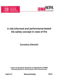 Cover A risk-informed and performance-based life safety concept in case of fire