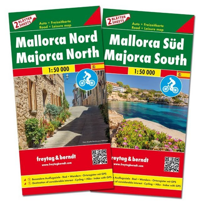 Cover Freytag & Berndt Auto + Freizeitkarte Mallorca Nord und Süd, Set, Autokarten 1:50.000. Freytag & Berndt Road + Leisure Map Majorca North / South