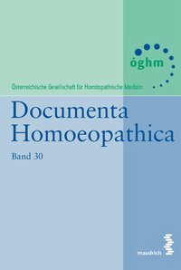 Cover Documenta Homoeopathica
