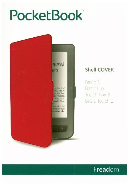 Cover PocketBook Shell Cover light red/black für Touch Lux 3 / Basic Touch 2 / Basic 3 / Basic Lux