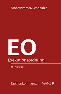 Cover EO Exekutionsordnung