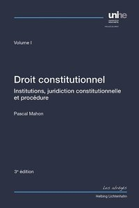 Cover Droit constitutionnel Volume I