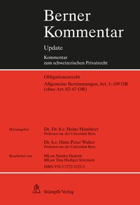 Cover Berner Kommentar Update - Allgemeine Bestimmungen, Art. 1-109 OR (ohne Art. 62-67 OR)