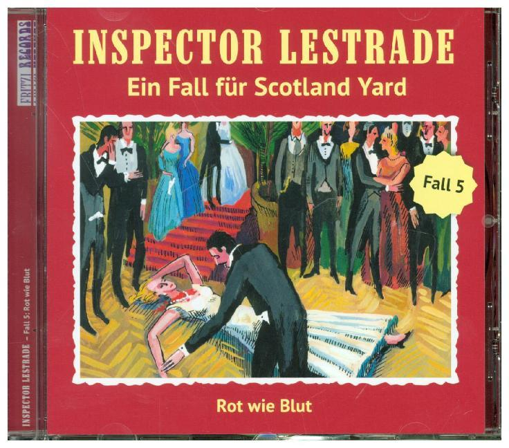 Cover Inspector Lestrade - Rot wie Blut, 1 Audio-CD