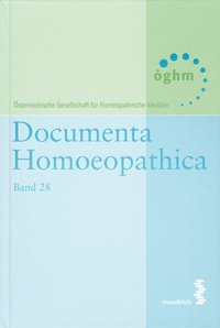 Cover Documenta homoeopathica / Documenta Homoeopathica