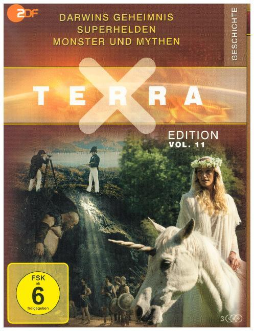 Terra X - Edition: Darwins Geheimnis / Superhelden / Monster und Mythen, 3 DVD
