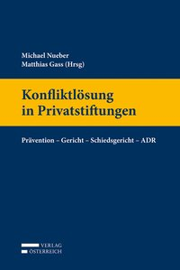 Cover Konfliktlösung in Privatstiftungen