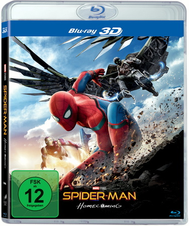 Spider-Man Homecoming, 2 Blu-ray (3D)