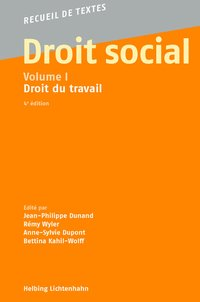 Cover Droit social, Volume I